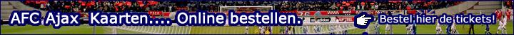 AFC Ajax Amsterdam kaarten, kunt u hier online makkelijk bestellen